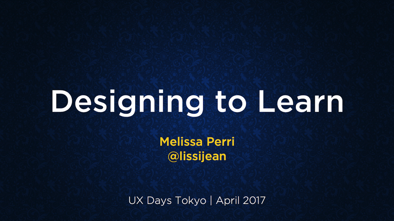 Designed to Learn by Melissa Perri