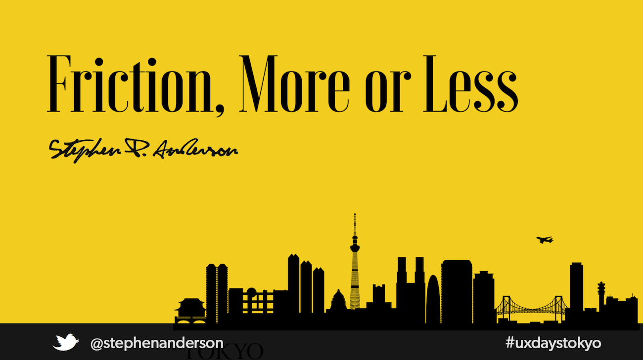 Friction, More or Less by Stephen P. Anderson