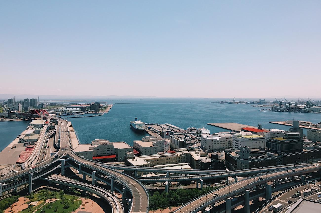 会場のある神戸商工貿易センタービル24階からの眺め