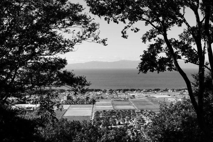 佐和山城跡から琵琶湖を望む